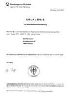 Erlaubnis zur Arbeitnehmerüberlassung SIKUTEC GmbH
